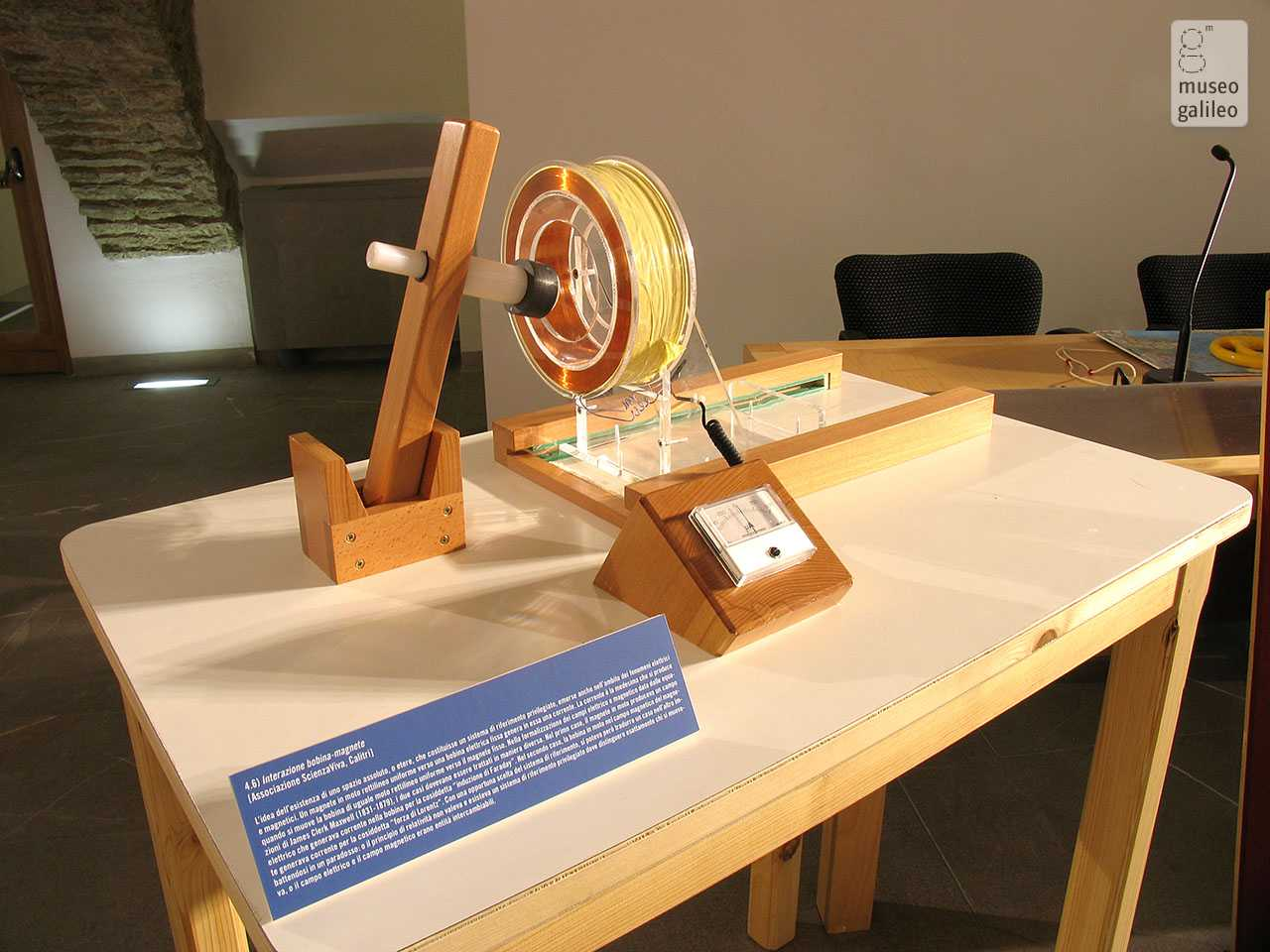 Relativity from Galileo to Einstein. Coil-magnet interaction, Florence, Museo di Storia della Scienza