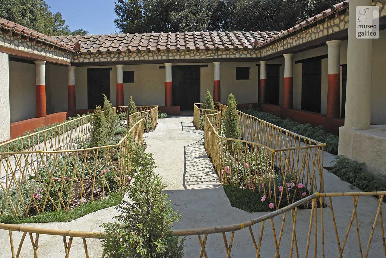 Ancient Gardens from Babylon to Rome. Life-size reconstruction of the Pompeian viridarium of the House of the Painters at Work, Florence, Boboli Gardens