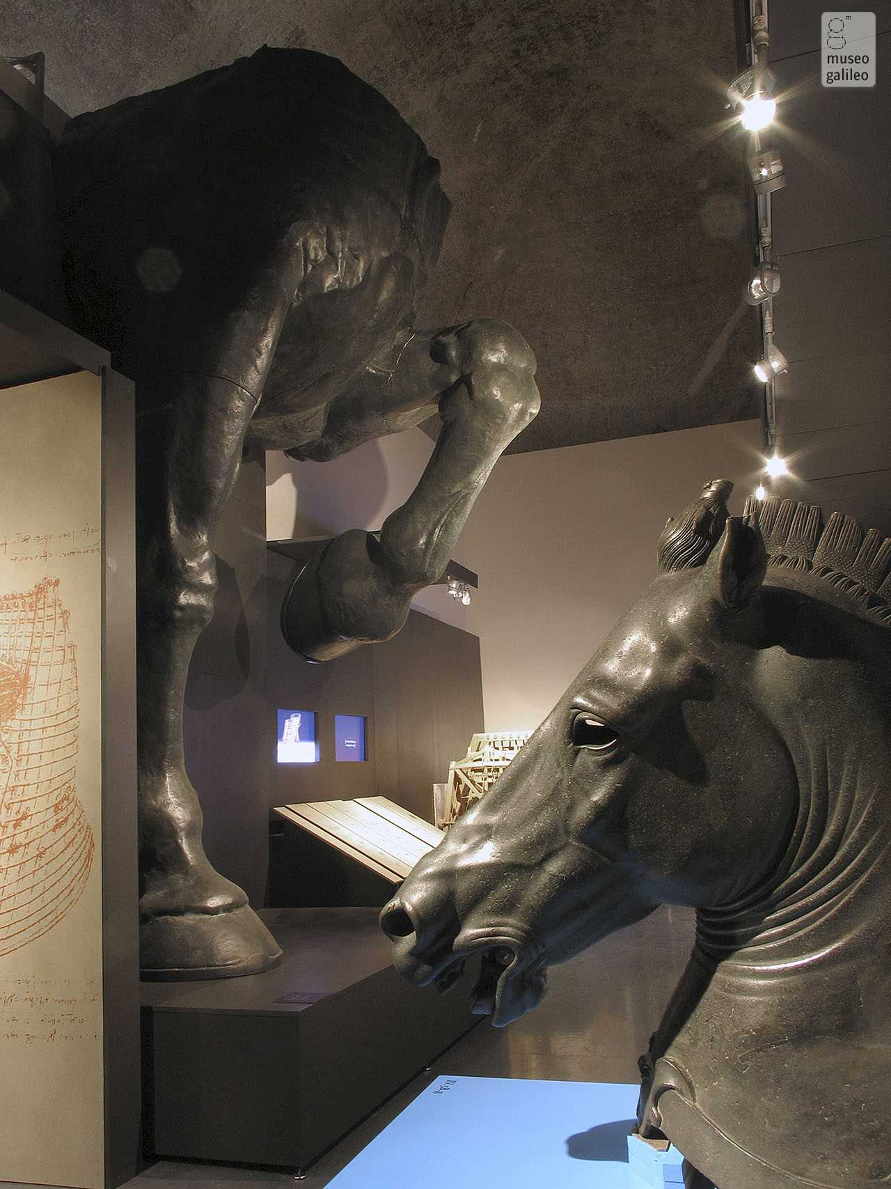 The Mind of Leonardo: The Universal Genius at Work. Exhibition hall dedicated to the project for the construction of the Sforza monument, Florence, Galleria degli Uffizi