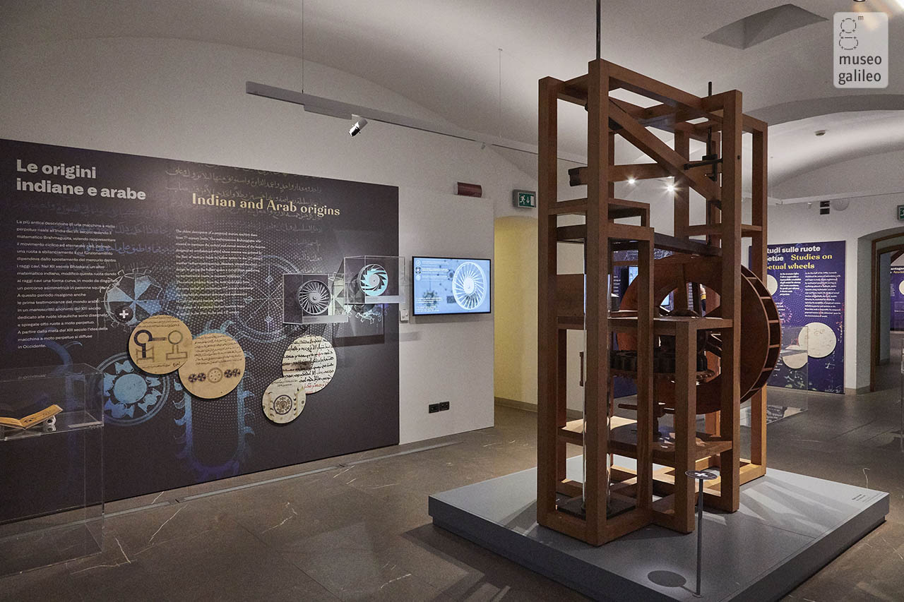 Leonardo da Vinci and perpetual motion. Working model of recirculating-water mill after Francesco di Giorgio, Florence, Museo Galileo