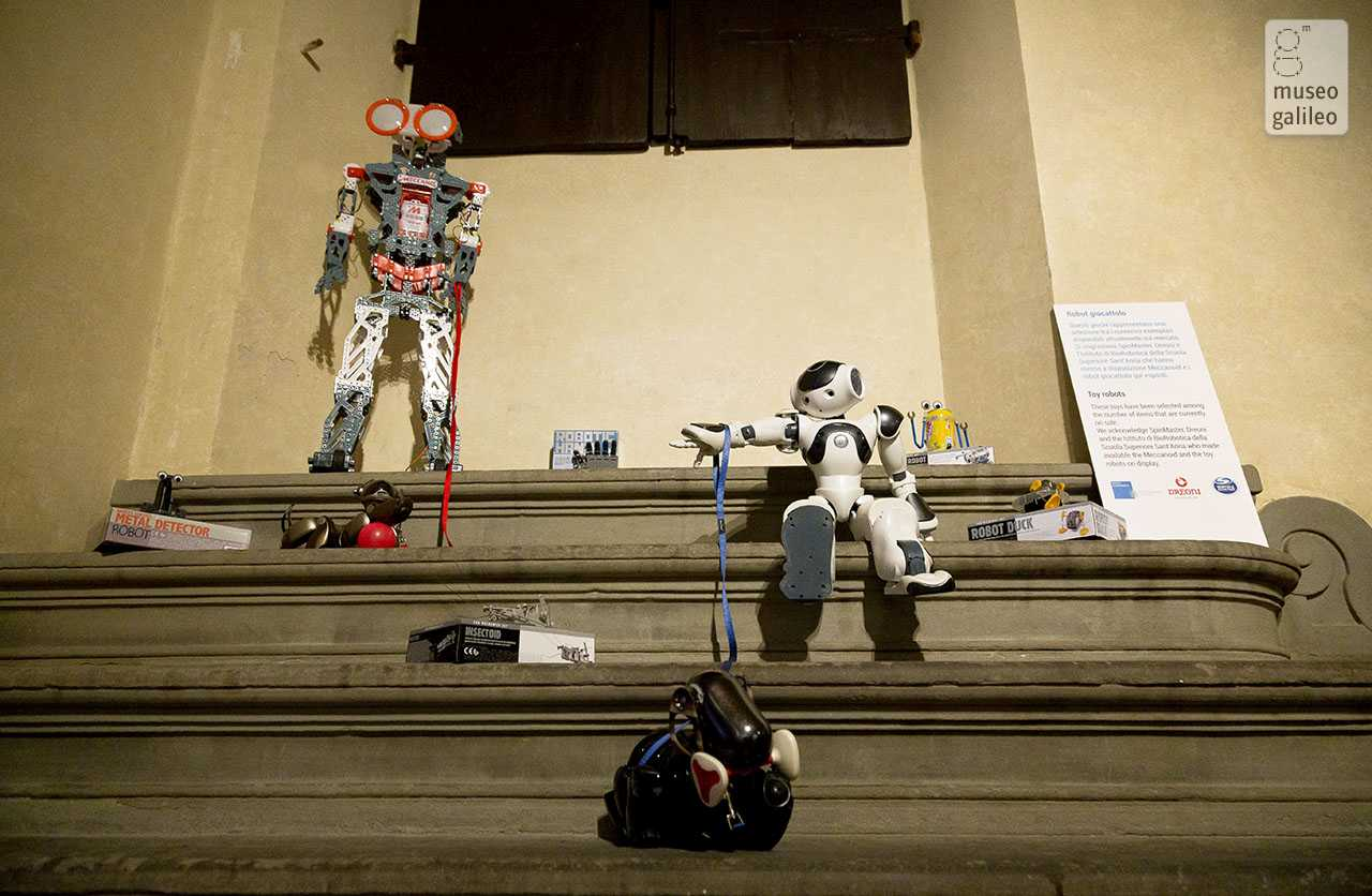 Nexus. Human-Machine Interaction in Contemporary Culture, Technology and Science. Toy robots, Florence, Palazzo Medici Riccardi