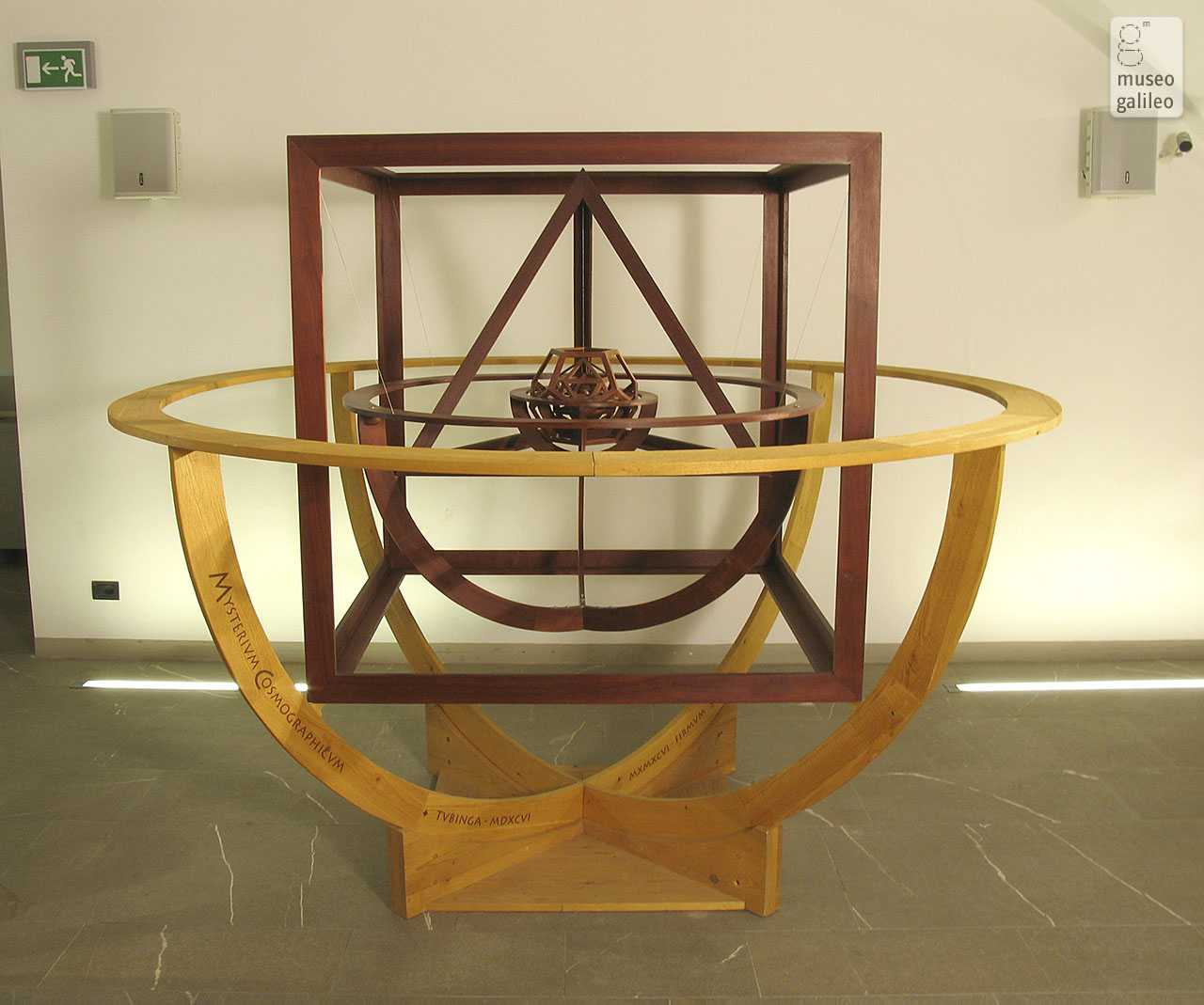 The Shapes of Numbers: A History of polyhedrons from Plato to Poinsot, passing through Luca Pacioli. Model of Kepler's Mysterium cosmographicum,  Florence, Museo di Storia della Scienza