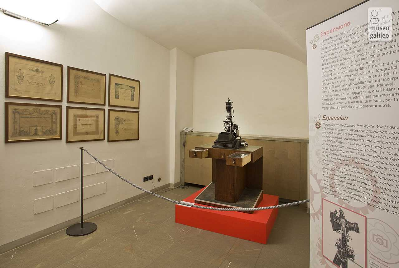 Officine Galileo: 150 Years of History and Technology. Exhibition hall, Florence, Museo Galileo