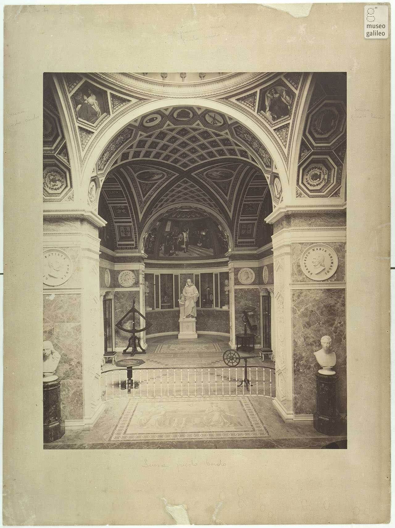 Interior of the Tribune of Galileo, historical photo