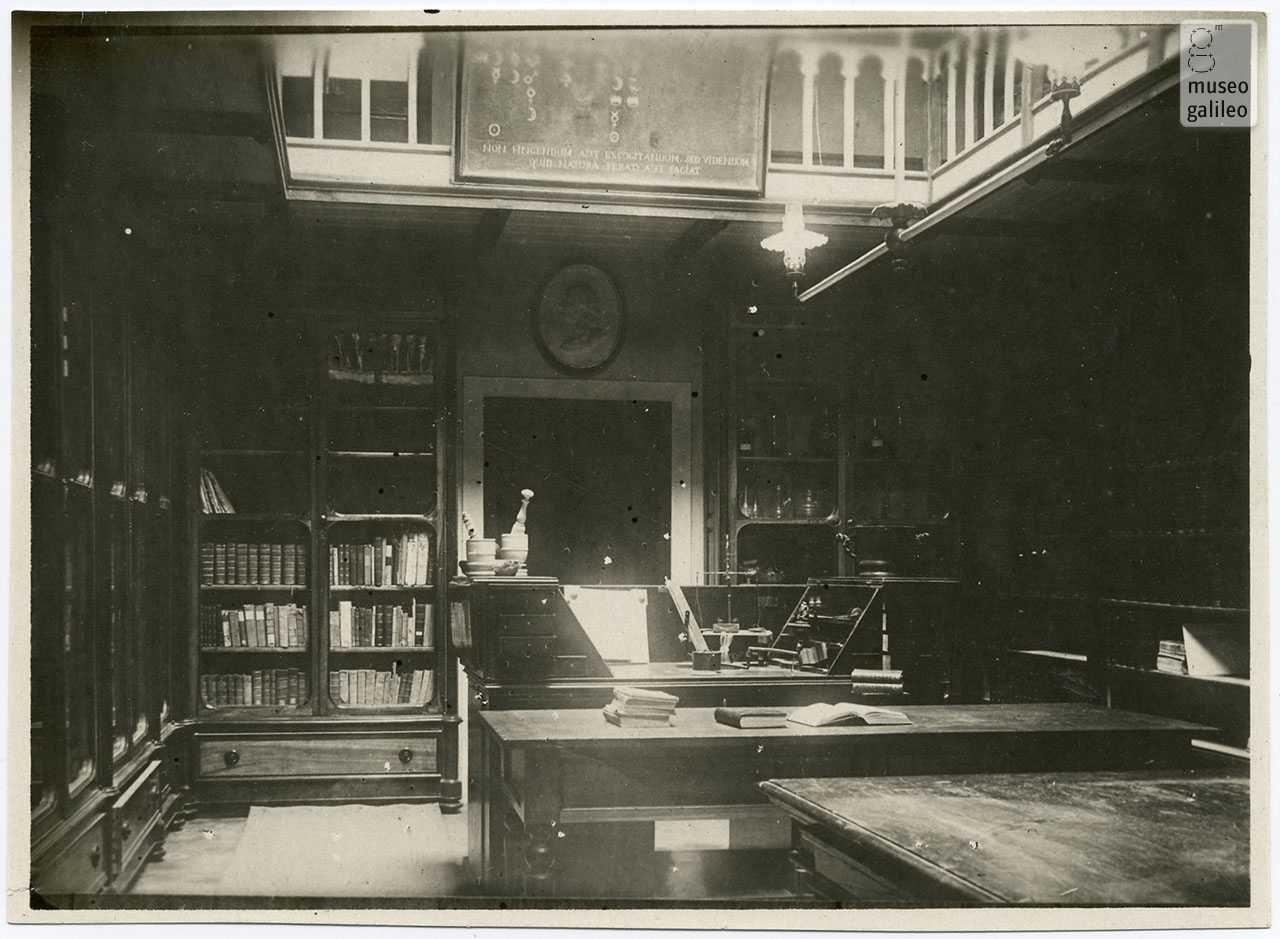 Chemistry room of the Royal Institute of Higher and Practical Studies, with Peter Leopold's Chemistry Cabinet