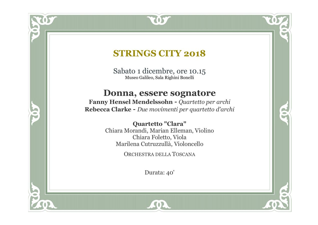 Strings City 18 programma