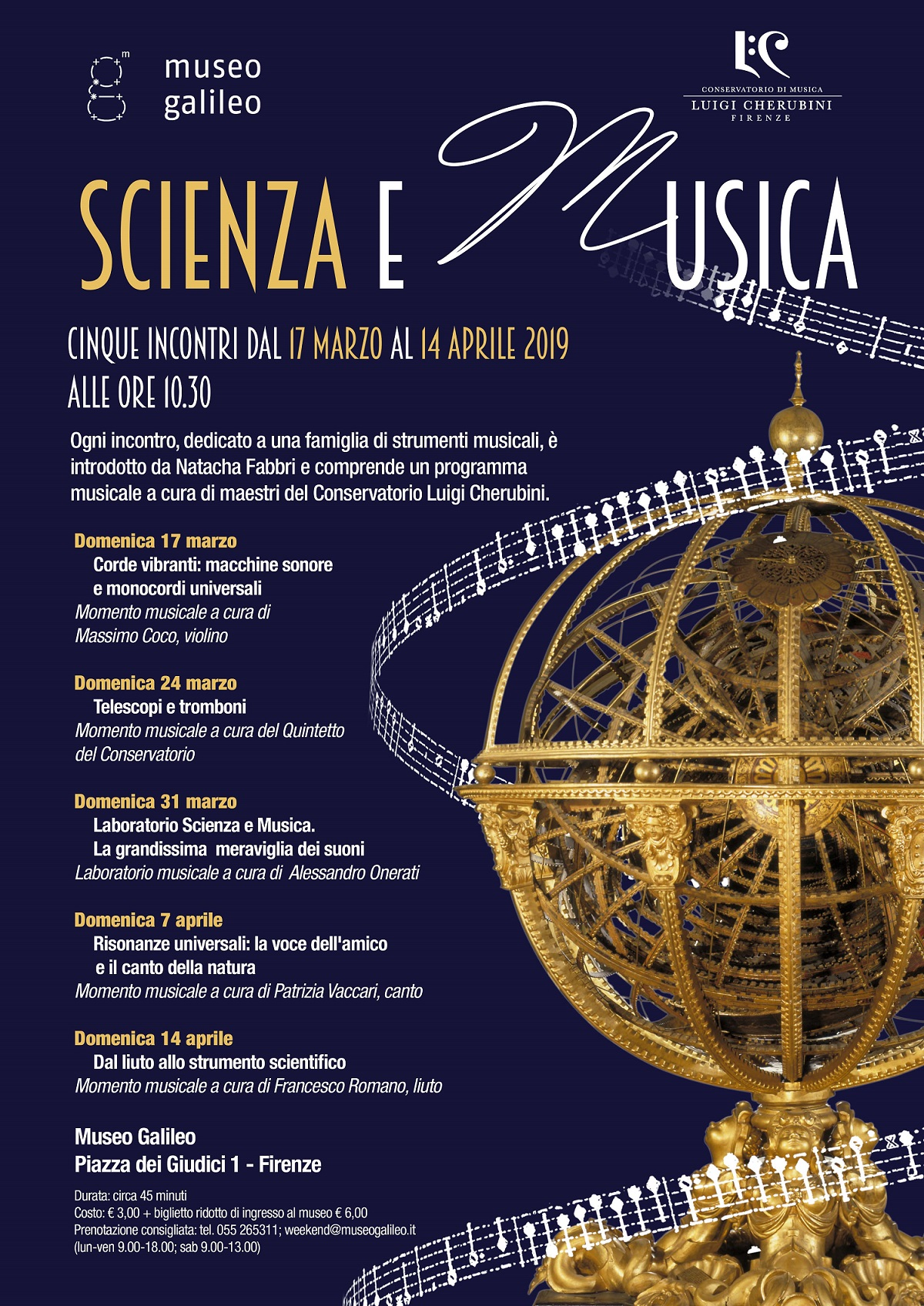 Scienza e musica 2019 flyer